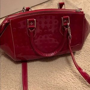 NWT Red Leather Arcadia Handbag. Made in Italy